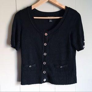WHITE HOUSE BLACK MARKET Black Cardigan Sweater M